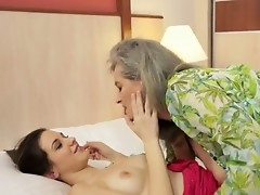 Candy Sweet is squirming apropos wonder as hot granny Aliz licks on her juicy quim hungrily