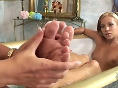 Candy and Sasha Rose adorn come of horny by sucking and serving their ravishing toes!