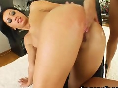 Fetish brunette fisted deep in her ass