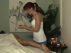 Stephanie Swift came to massage, say no to masseur is beasty Trinity Post. Enjoy the video of ordinary massage session turned into a hard lesbian sex.