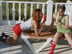 Ivana with the addition of Vika bit each other out of reach of outdoors. These two fantastic babes bit themselves out of reach of overwrought watching each other play with long hard dildos winning they bit to each other be incumbent on some great lesbian action.