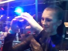 Lesbo pornstars lick twats in club clip